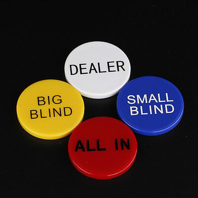 Acrylic Dealer All In Big Blind Small Blind Button Set Texas Hold'Em Poker