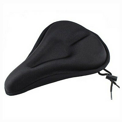 Bike Bicycle Extra Comfort Soft Gel Seat Saddle Cushion Cover - Black R1T2