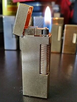Newly serviced 1970s Genuine Dunhill Rollagas Lighter Gold Plated Barley