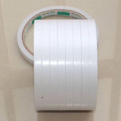 White 5 Rolls of Double-sided Super Strong Adhesive Tape 8mm Useful