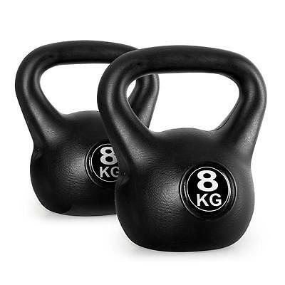 Pair Of 8Kg Kettlebell Strength Training Weightlifting Dumbell Arm Bicep Fitness