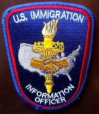 U.S. Immigration POLICE Information Officer patch … VERY SCARCE !!!