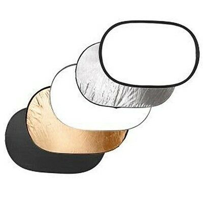 5in1 150x200 Collapsible Light Studio Reflector White Black Silver Gold Diffuser