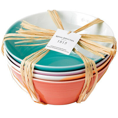 NEW Royal Doulton 1815 Bright Noodle Bowl Set 4pce