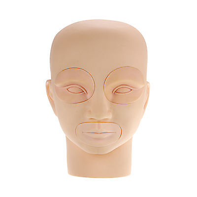 Practice Flat Removable Mannequin Training Head Aid for Eyelash Extension Makeup
