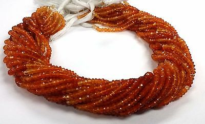 """100% Natural Carnelian Shaded Faceted Rondelle Beads Single Strand 6"""""""