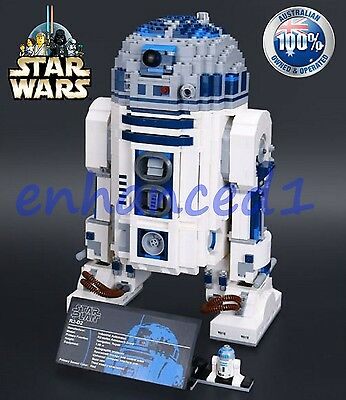 """BRAND NEW Star Wars R2-D2; 10225, Lego Compatible, UCS, complete """"retired"""" set"""