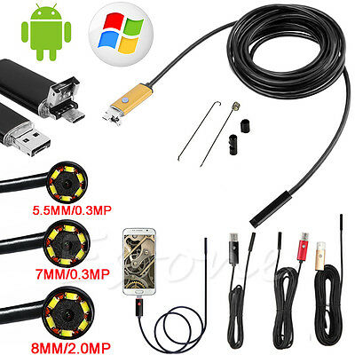 10m 6LED Waterproof Android Endoscope Inspection Camera Micro USB Video Camera