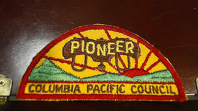 Vintage Boy Scout Badge Patch  Pioneer Columbia Pacific Council