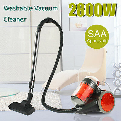2800W Bagless Cyclone Cyclonic Vacuum Cleaner Filtration System Floor Brush