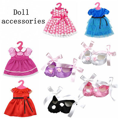 Handmade Silk Clothes Shoes Party Dress Skirt for 18inch American girl doll