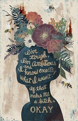 """INSPIRATIONAL QUOTE """"I'M TOUGH"""" ART  IMAGE  A4 Poster Laminated Gloss Print"""