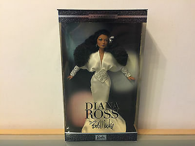 Diana Ross By Bob Mackie Limited Edition Barbie Collectibles Doll White Dress