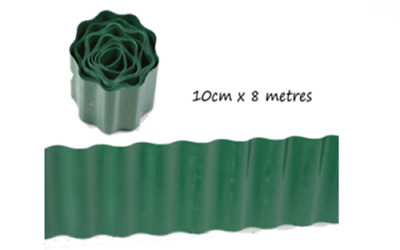 24 lawn edging lge 10cm x 8m green plastic edge your grass keep it neat bulk who