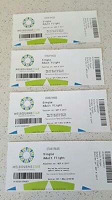 Melbourne STAR Observation Wheel tickets (4 Adults, 2 Childs)