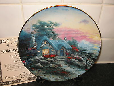 Enchanted Cottages  Plate   - Seaside Cottage    -    Bradford Exchange