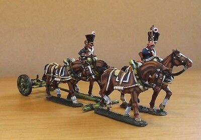 28mm French Napoleonic artiller  limber & crew from Front Rank wargame figures