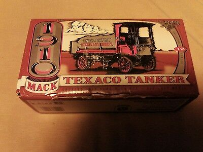 1910 Mack Texaco Tanker Truck Die Cast Bank