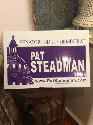 Pat Steadman For Colorado State Senate Original Yardsign