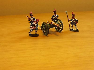 28mm French Napoleonic  cannon and crew from Front Rank wargame figures set 2