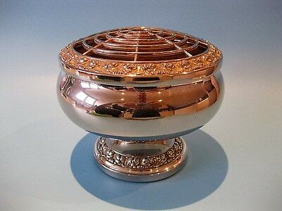 Extremely Lovely Large Vintage Silver Plated Posy Bowl / Flower Vase