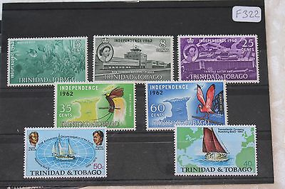 Trinidad, card of mlh stamps- lot  215