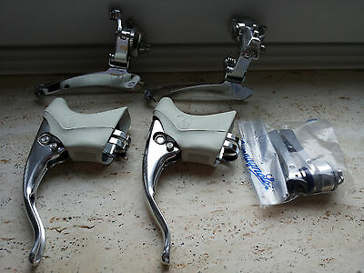 Campagnolo C Record Brake Levers,shifters,front Derailleur