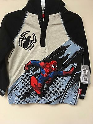 Disney Spider-Man Hooded Top for Kids Age 3