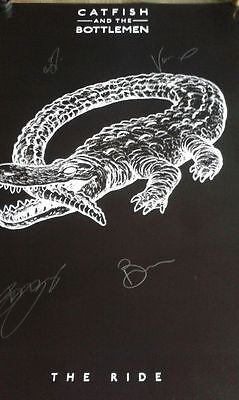 Catfish And The Bottlemen The Ride  Exclusive Autographed Signed Poster