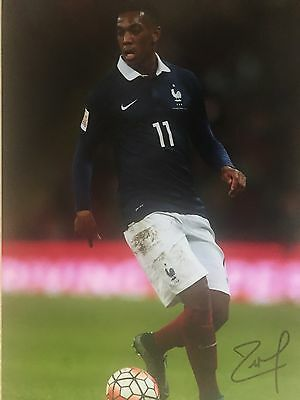 Anthony Martial France Original Hand Signed Photo 12x8 With COA