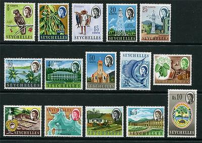 Seychelles: 1962 QE2 set of 15 stamps to 10 rupees SG196-212 MNH K052