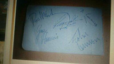 Neil Aspinall Handsigned 1960S Set Of Beatles Signatures
