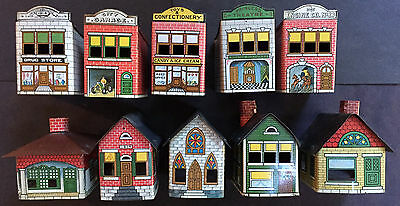 Set Of 10 Antique Tin  Candy Containers- 1914