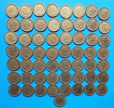 1931 to 1967 UK SIXPENCE COLLECTION 57 COINS - MOSTLY GOOD CONDITION