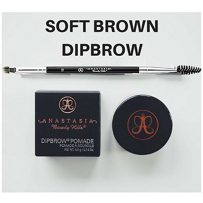 Anastasia Beverly Hills Dipbrow Pomade Eyebrow Definer Soft Brown Free Brush #12