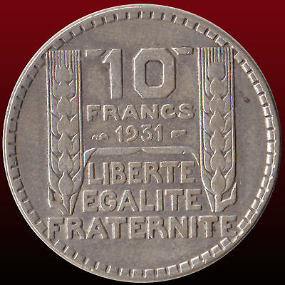 France 10 Francs 1931 Silver Coin