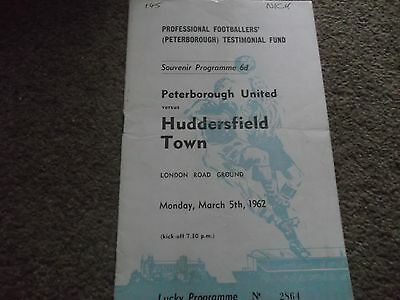 Roy Jacobs Testimonial Peterborough United V Huddersfield Town 5Th March 1962