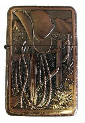 Cowboy Design Star Petrol Lighter In Gift Tin
