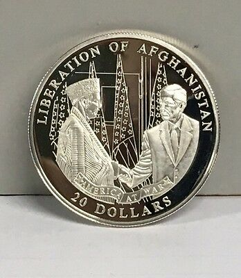 2003 Republic Of Liberia Liberation Of Afghanistan Commemorative Coin