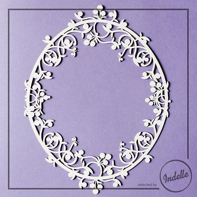 Large Oval Chipboard Frame Card Making Embellishment Papercraft Scrapbooking