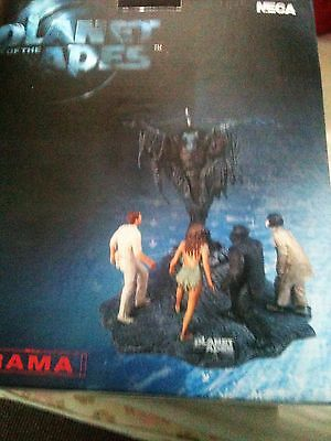NECA Planet of the Apes Diorama with figures 2001 movie scene model resin