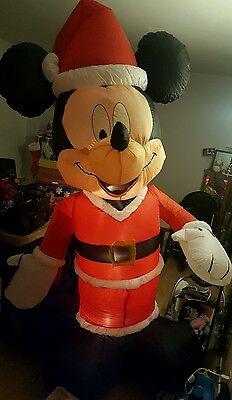 Disney Mickey Mouse Christmas Inflatable Blow Up Light Up 7 Ft Foot Tall Decor
