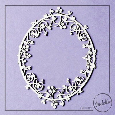 Oval Chipboard Frame Card Making Embellishment Papercraft Scrapbooking
