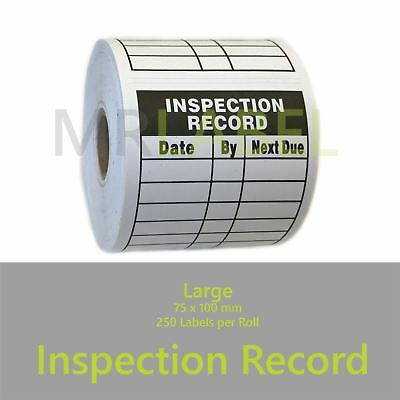 Mr-Label Inspection Record Electrical Stickers Labels 75x100 mm 250 Per Roll