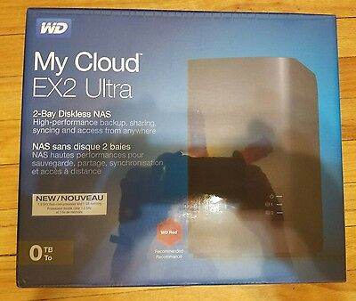 WD Diskless My Cloud EX2 Ultra Network Attached Storage - WDBVBZ0000NCH-NESN