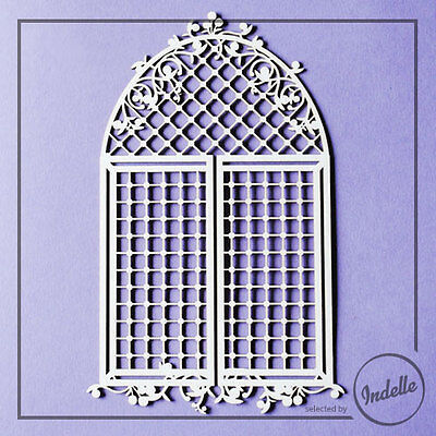 Large Arch Window with Lattice Craft Shape Cardmaking Papercraft Scrapbooking
