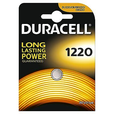 1 x Duracell CR1220 3v Lithium Coin Button Cell Battery 1220 DL1220 BR1220