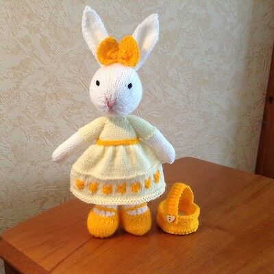 hand knitted toy rabbit,easter gift