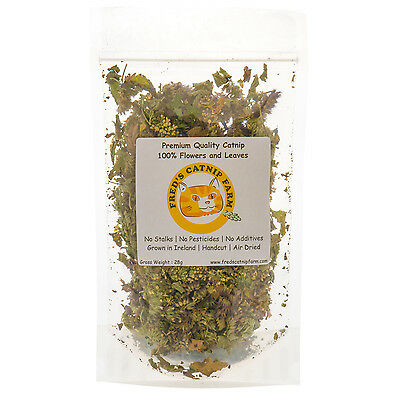 28g - Irish Grown, Dried Catnip, Top Quality Strong Catnip in Resealable Bag