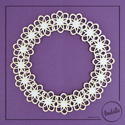 Lace Circle Chipboard Frame Chipboard Shape Card Making Papercraft Scrapbooking